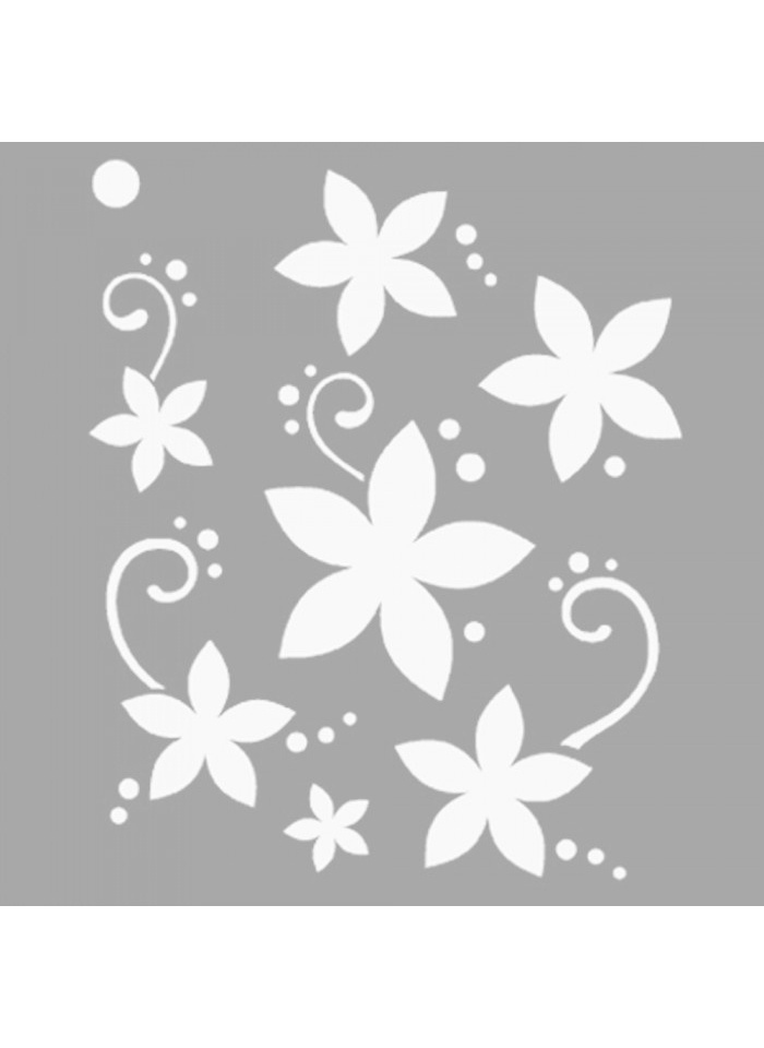 Standart Artikel Evie Çiçek Motif Stencil Tasarımı 30 x cm